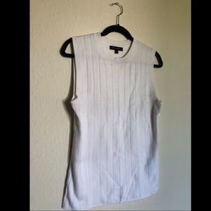 Banana Republic Cream/White Sweater Vest